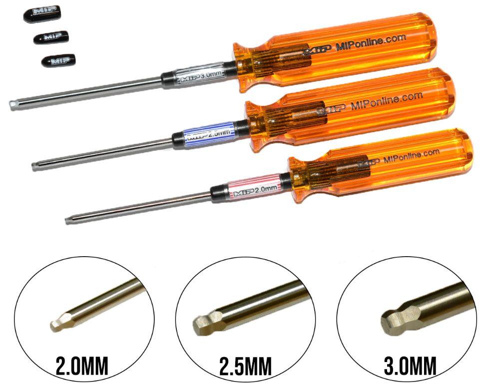 MIP9506 MIP Hex Driver Ball Wrench Set Metric 3